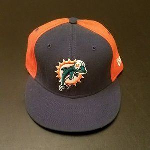 NFL Miami Dolphins Two Tone 59 Fifty Fitted Hat